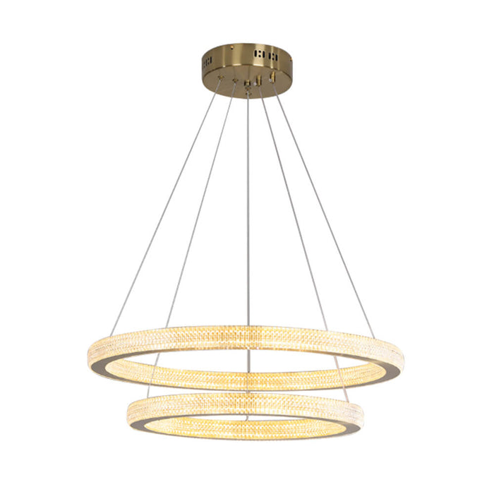 Modern Rings Pendant Light Gold
