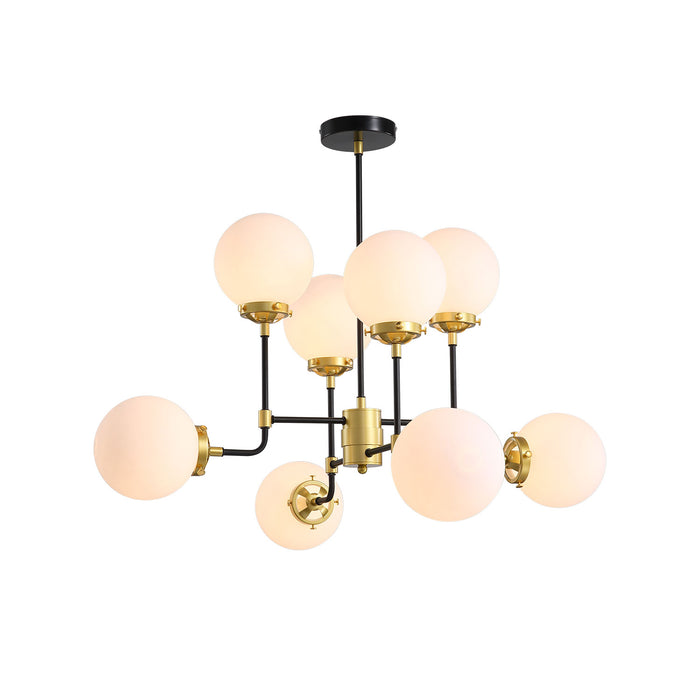 Modern Ball Sputnik Chandelier Side Show