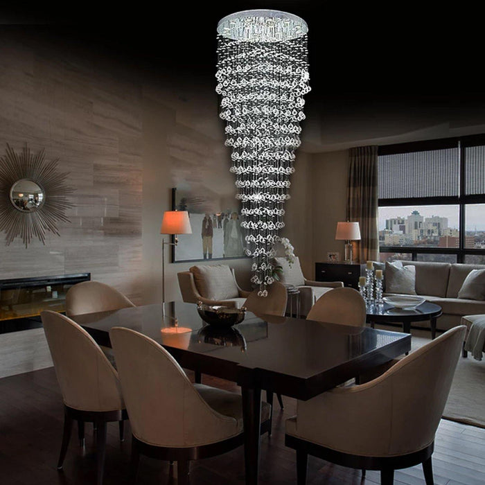 Modern Contemporary Crystal Chandelier Round Circle LED Rain Drop Lamp - Dining Room