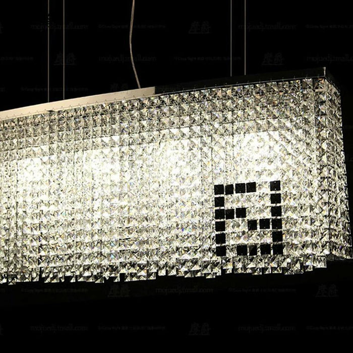Modern Contemporary Luxury Crystal Chandelier Lighting Fixture - Details