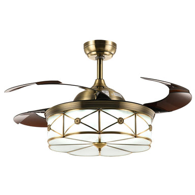 "Modern Invisible Fan with Dimmable Lights, 36"" Bronze"