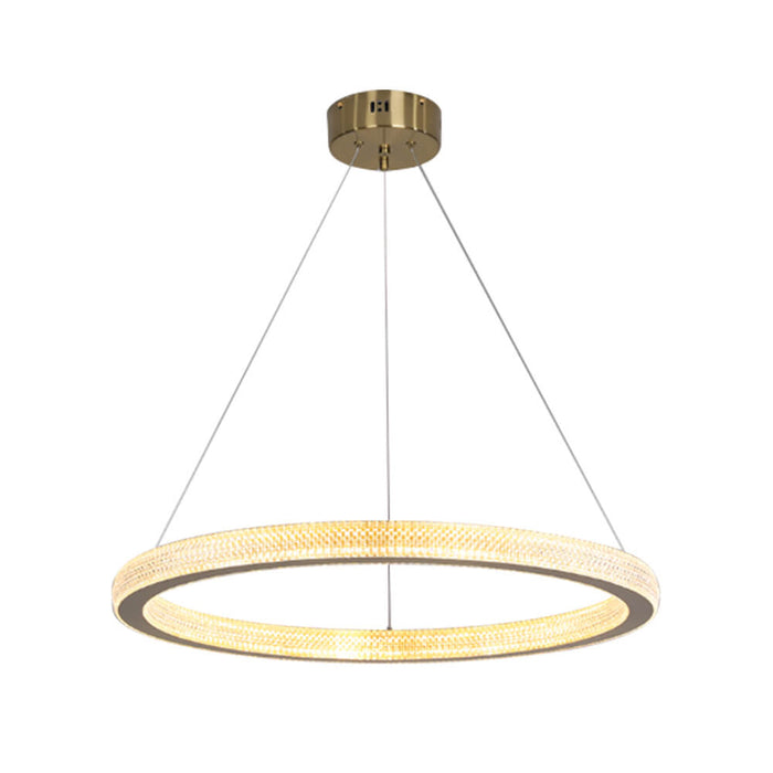 Modern Ring Chandelier Gold