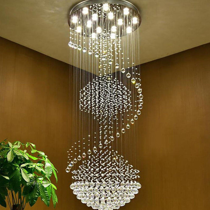 Modern Staircase Crystal Chandelier Lighting