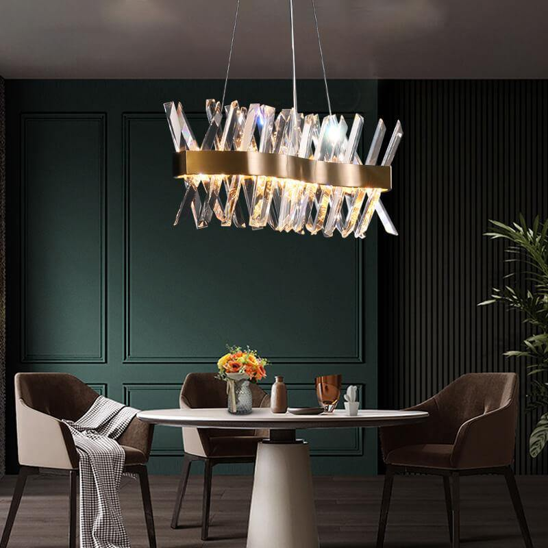 Modern X-Shape Crystal Chandelier LED Lighting