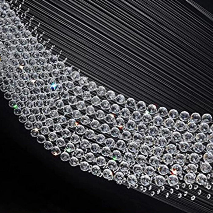 Moon Shaped Crystal Chandelier Rain Drop Ceiling Light - Details