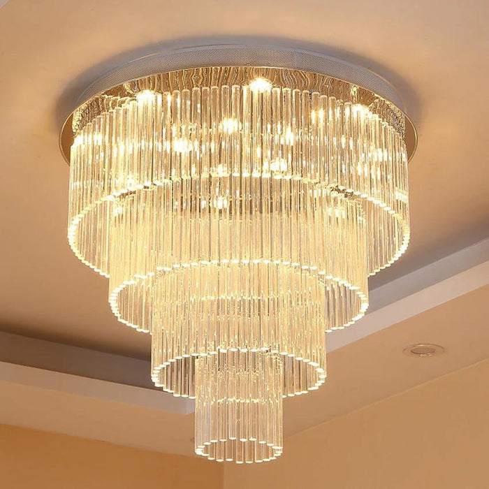 Modern Round Raindrop Crystal Ceiling Light Fixture - 7PM LIGHTING
