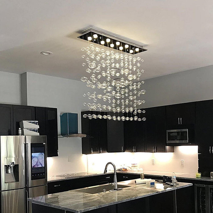 Rectangle Bubble Chandelier Flush Mount Ceiling Light - Island