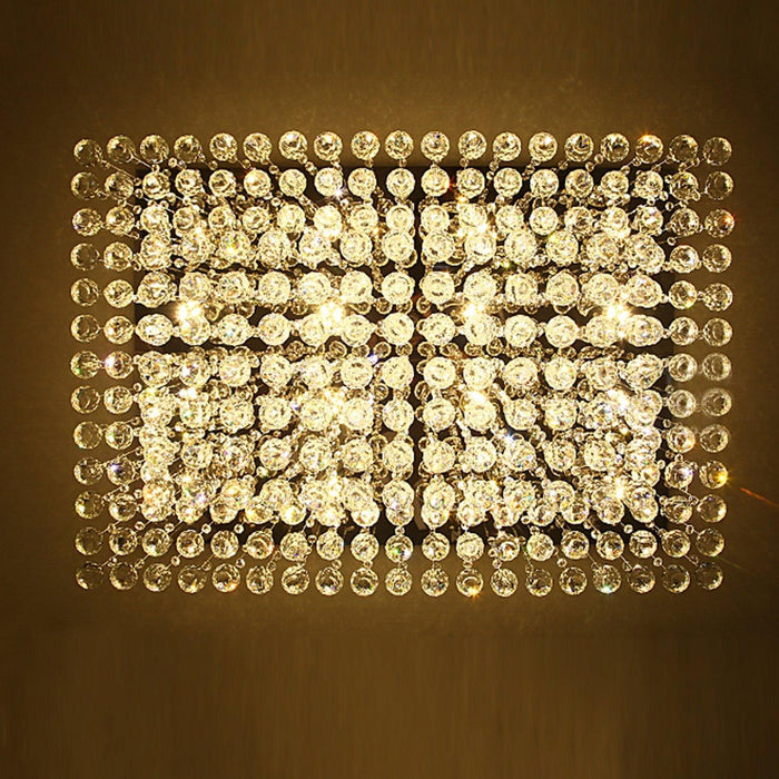 Rectangular Crystal Chandelier Double Layer Ceiling Light - Details