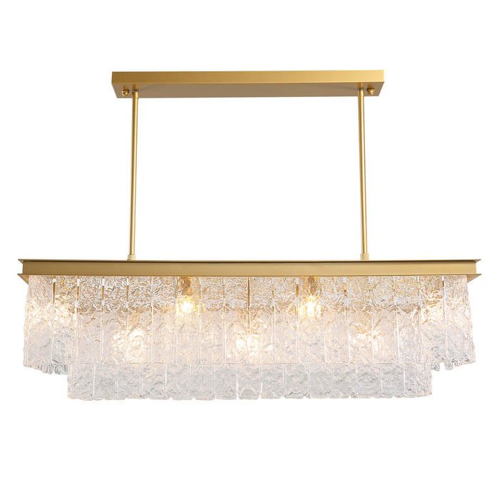 Rectangular Crystal Chandelier Positive Display