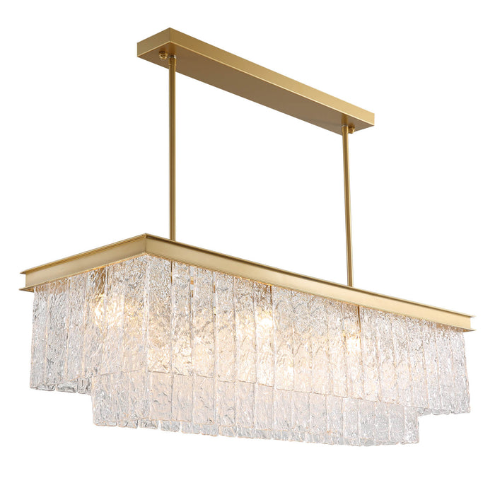 Rectangular Crystal Chandelier Side Display