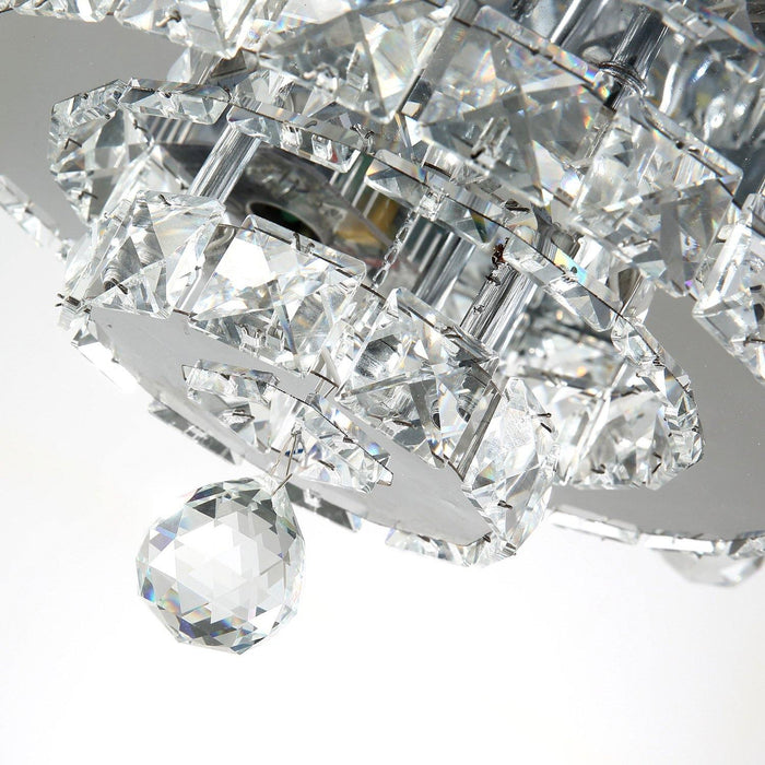 "Retractable Ceiling Fan Light with Crystals, 36"" Chrome - Details"