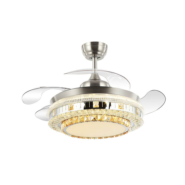 Retractable Chandelier Fan with LEDs