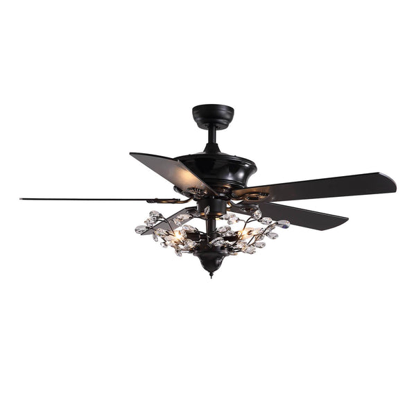 Reversible Ceiling Fan Combo with Crystal