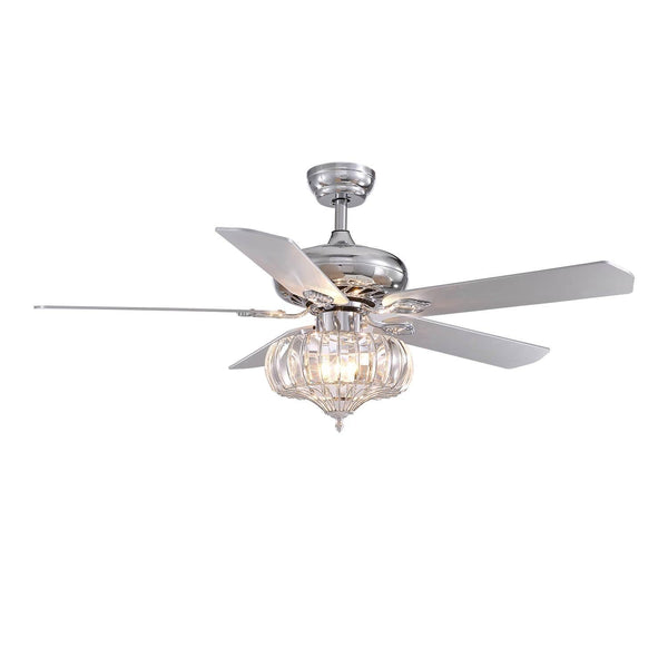 Reversible Ceiling Fan with Crystal Shad