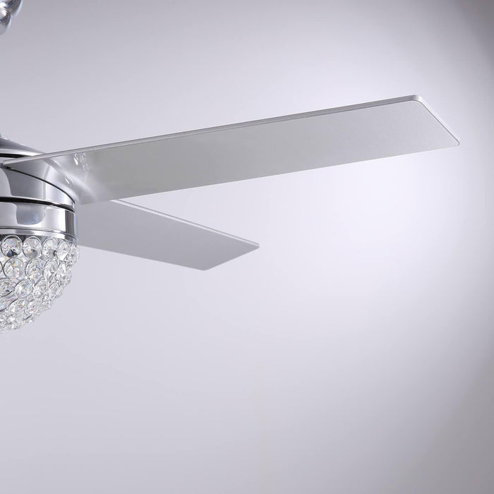 Reversible Ceiling Fan with Light Blade Details