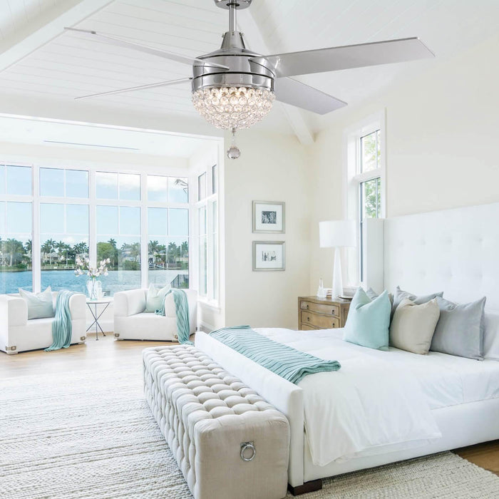 Reversible Ceiling Fan with Light For Bedroom