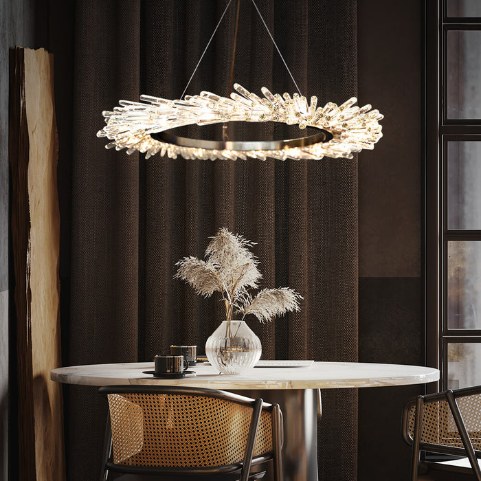 Ring Crystal Chandelier For Dining Room
