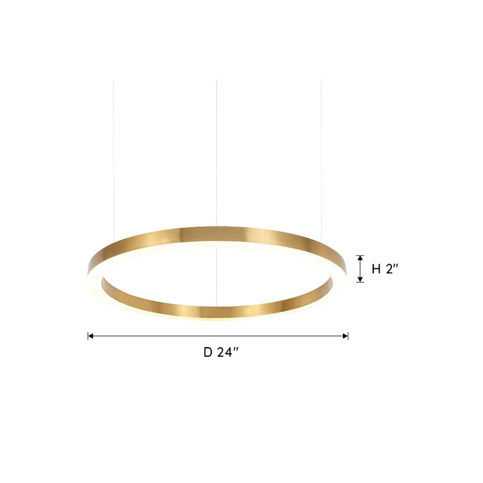 Ring LED Chandelier 24 Inches
