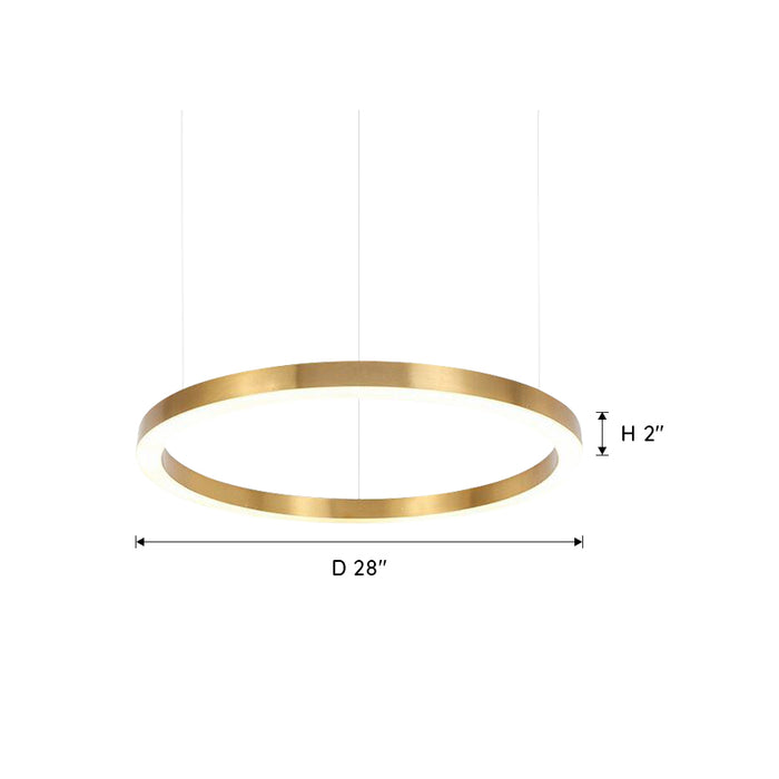 Ring LED Chandelier 28 Inches