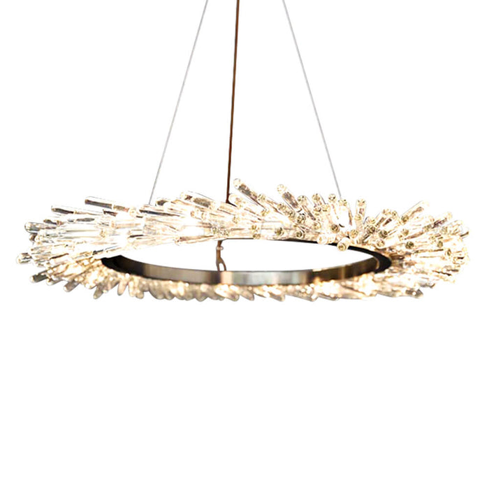 Round Crystal Hanging Light