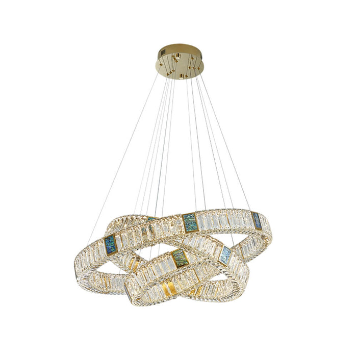 Round Crystal Pendant Light 3 Rings