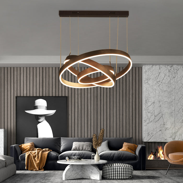 Round LED Hanging Light 3 Rings