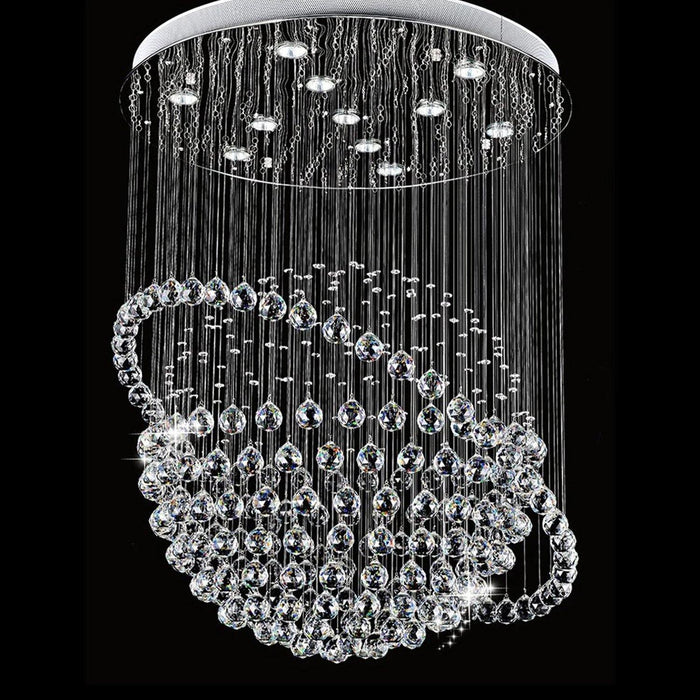 Sphere and Circle Rain Drop Clear K9 Crystal Chandelier