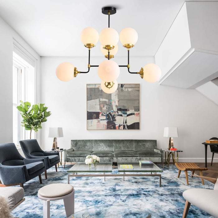 Sputnik Ball Chandelier For Living Room