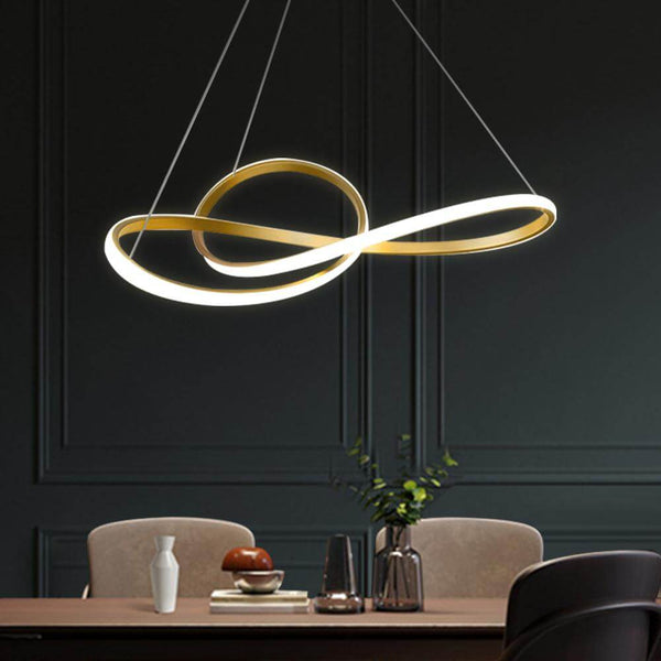 Twisted Ribbon Hanging Light
