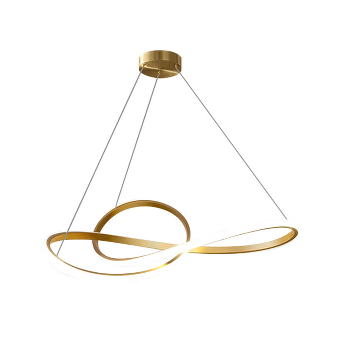 Twisted Ring LED Chandelier
