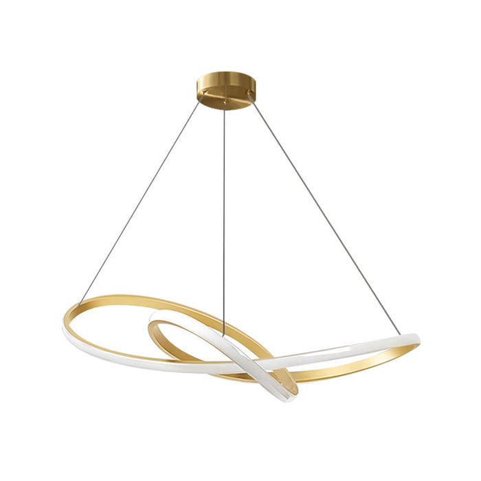 Twisted Ring LED Hanging Light