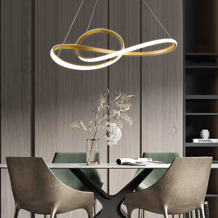 Twisted Ring Suspension Light