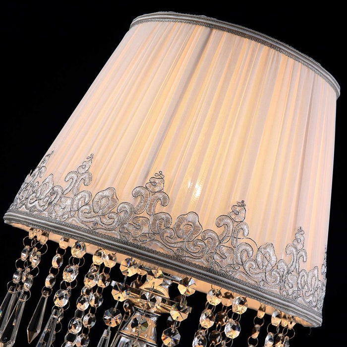 Two Set of Dimmable Crystal Table Lamp for Bedroom Nightstand - Details