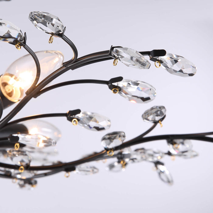 Vintage Branch Crystal Ceiling Light Detail-3