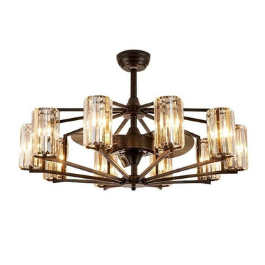 Vintage Chandelier Ceiling Fan with 10 Lights