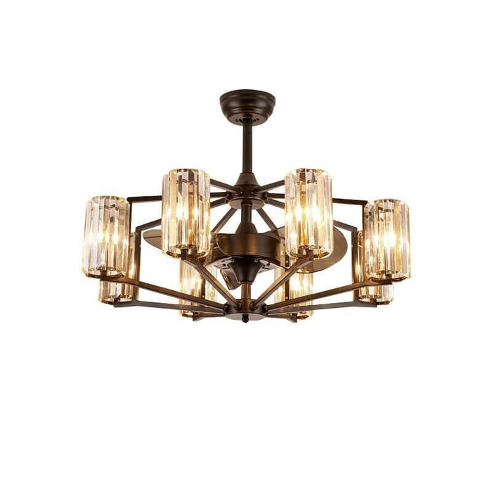 Vintage Chandelier Ceiling Fan with 8 Lights