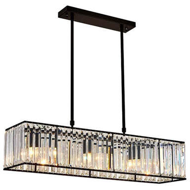 Vintage Black Finsh Dining Room Crystal Chandelier - 7PM LIGHTING