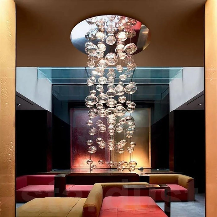 Round Bubble Glass Drop Pendant Light Ceiling Light Fixture - 7PM LIGHTING