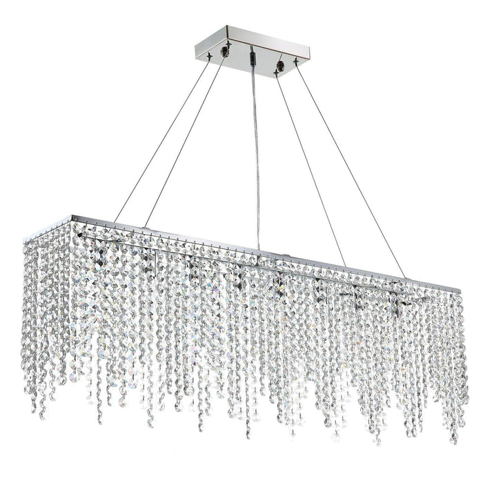 Rectangle Linear Crystal Chandelier - 7PM LIGHTING