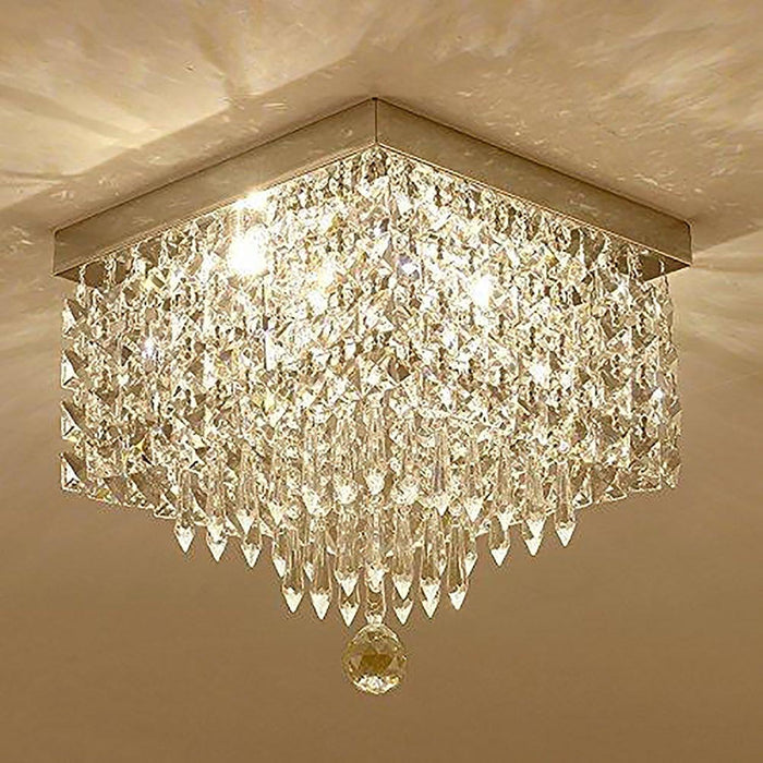 Square Mini Hallway Crystal Chandelier