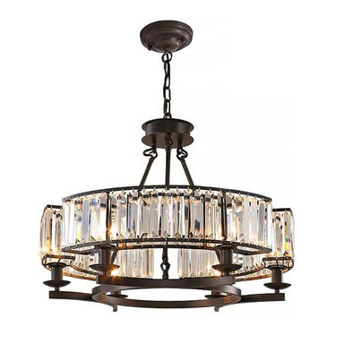 Farmhouse Antique Round Island Crystal Chandelier