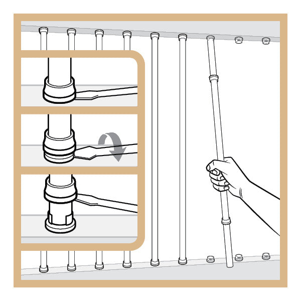 Snap'n Lock™ Baluster Connectors Square 20 Pack