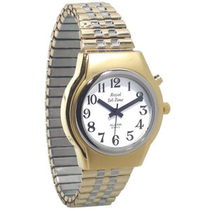 Mens Royal Tel-Time One Button Talking Watch with Expansion Band