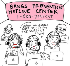 But Like Maybe Bangs Prevention Centre Instagram Post