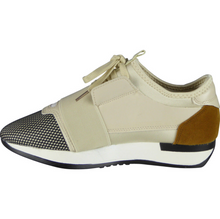 Miss Beaut- LAST SUMMER STOCK- Beige Mixed Colour Block Trainers UK 7 - Miss Beaut
