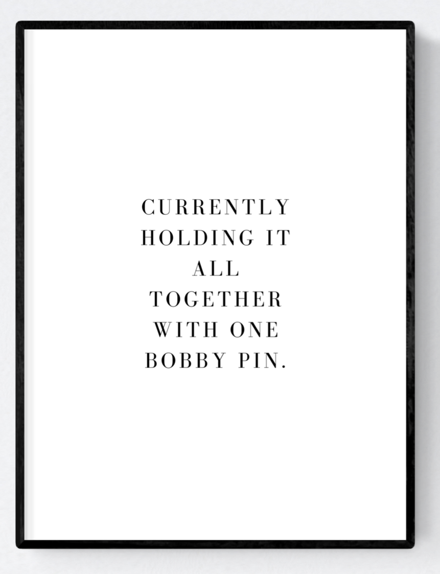 Holding it Together Artwork Poster Print A3/A4/Download - Miss Beaut