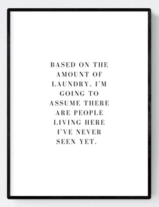 The Amount of Laundry Artwork Poster Print A3/A4 Download - Miss Beaut