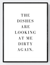 Dirty Dishes Artwork Poster Print A3/A4 Download - Miss Beaut