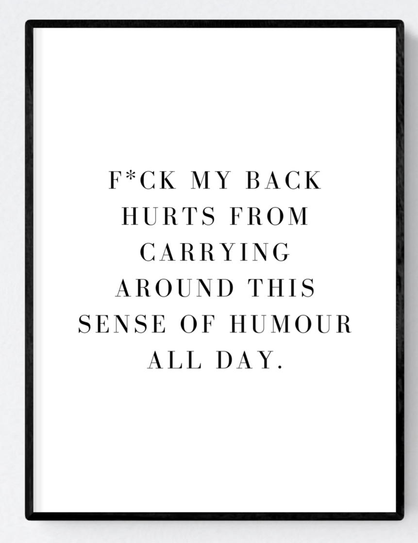 F*ck Artwork Poster Print A3/A4 Download - Miss Beaut