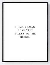 Romantic Walks to the Fridge Artwork Poster Print A3/A4 Download - Miss Beaut